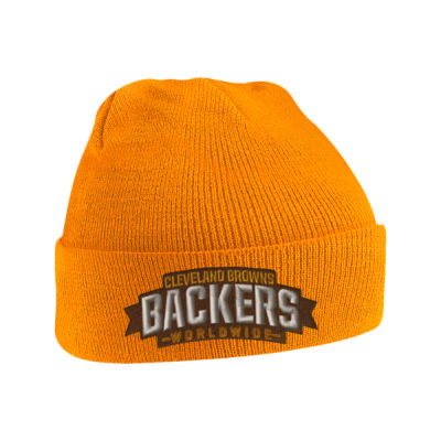 Browns Backers Embroidered Beanie Hat Thumbnail